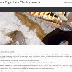 Projectos de Engenharia Térmica
