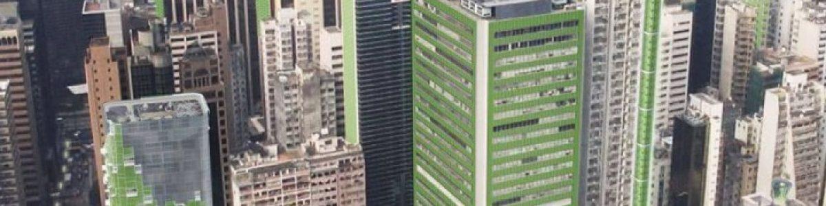Painel verde que capta CO2, produz oxigénio e algas comestíveis